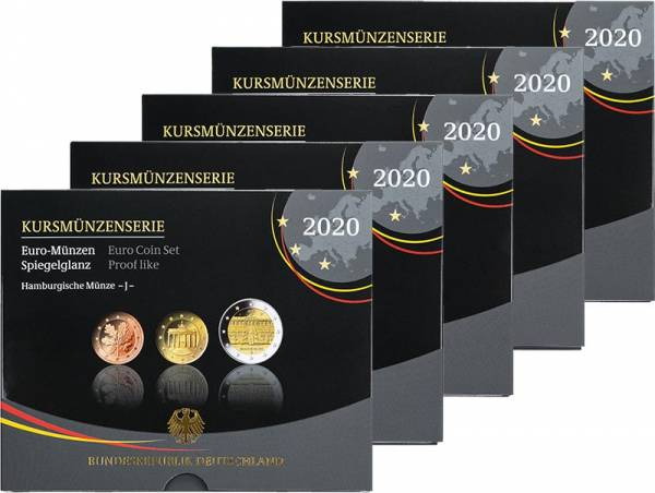 Euro-Kursmünzensätze BRD 2020 Polierte Platte