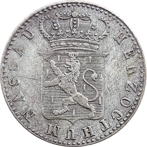 6 Kreuzer Nassau Herzog Wilhelm 1831 - 1837