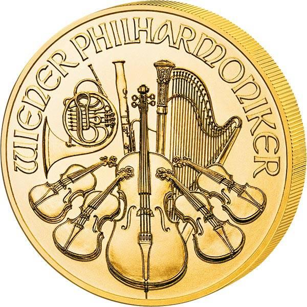 1/25 Unze Gold Österreich Philharmoniker 2021