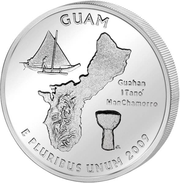 Quarter Dollar USA Guam 2009