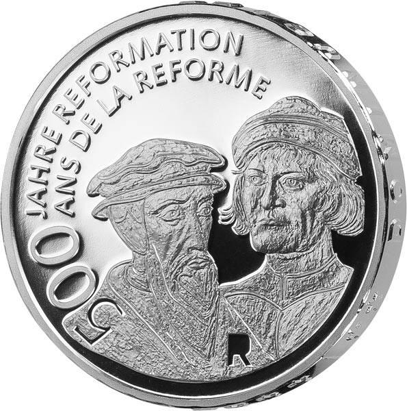 20 Franken Schweiz 500 Jahre Reformation 2017