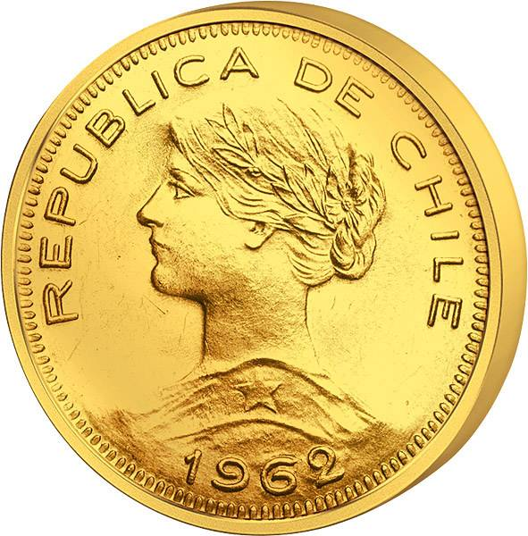 100 Pesos Chile Liberty