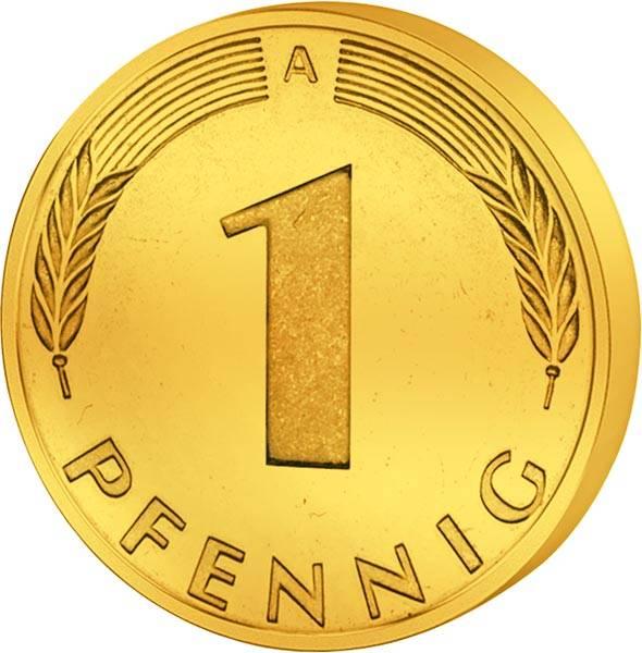 1 Pfennig BRD Glückspfennig