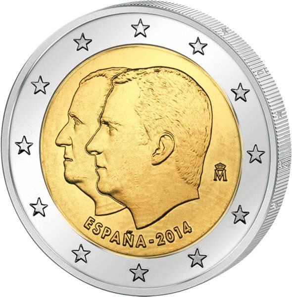 2 Euro Spanien Proklarmation König Felipe VI. 2014 prägefrisch