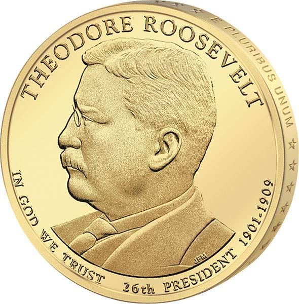 1 Dollar USA Theodore Roosevelt 2013  Stempelglanz