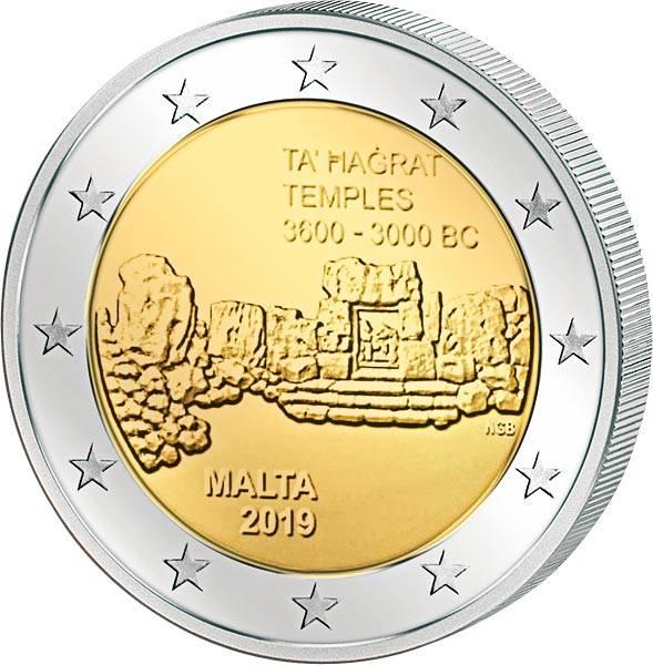 2 Euro Malta Tempel von Ta´ Hagrat 2019