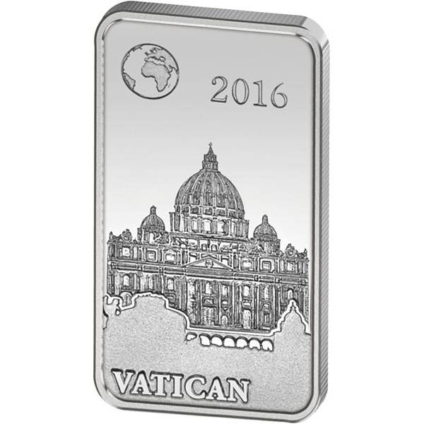 1/2 Dollar Salomonen Berühmte Wahrzeichen Vatikan Petersdom 2016