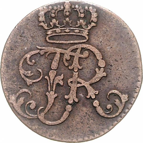 1 Pfennig Preußen Friedrich II. der Große