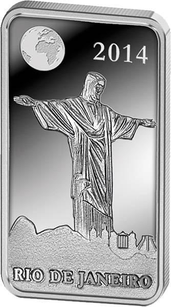 1/2 Dollar Salomonen Brasilien Rio de Janeiro Christusstatue 2014 Polierte Platte (PP)
