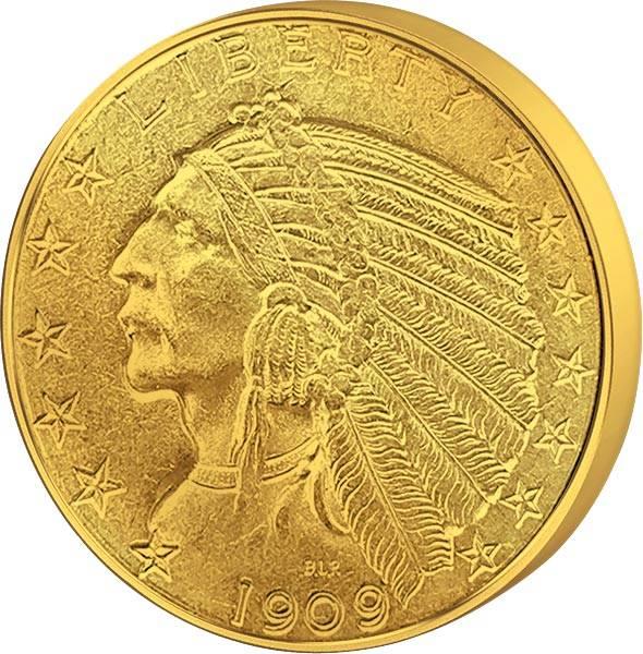 5 Dollars USA Indianerkopf 1908-1929