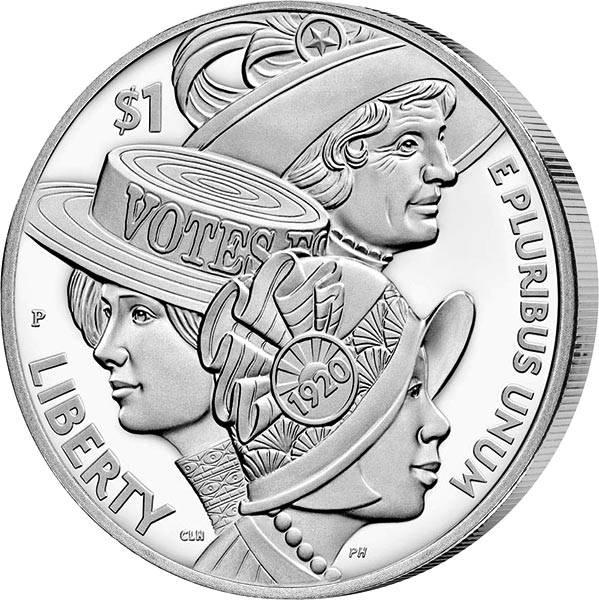1 Dollar USA 100 Jahre Frauenwahlrecht 2020
