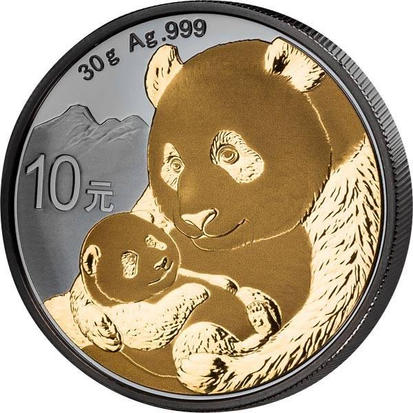 10 Yuan China Panda 2019 Golden Enigma Edition