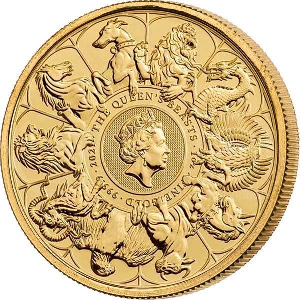 1 Unze Gold Großbritannien Queens Beasts Completer Coin 2021