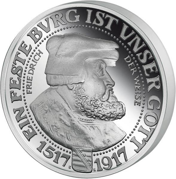 3 Mark Sachsen Friedrich der Weise 1917 Neuprägung