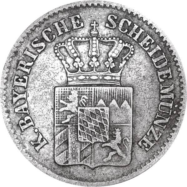 3 Kreuzer Bayern König Ludwig II.