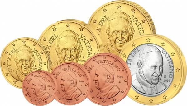 1 Cent - 1 Euro Kursmünzen Vatikan 2014