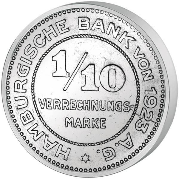 1⁄10 Mark 1/10 Mark Notgeld Freie und Hansestadt Hamburg o.J. (1923)  ss-vz