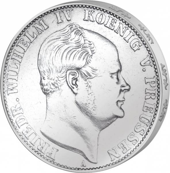 Taler Vereinstaler Preußen König Friedrich Wilhelm IV. 1857-1861 Sehr schön