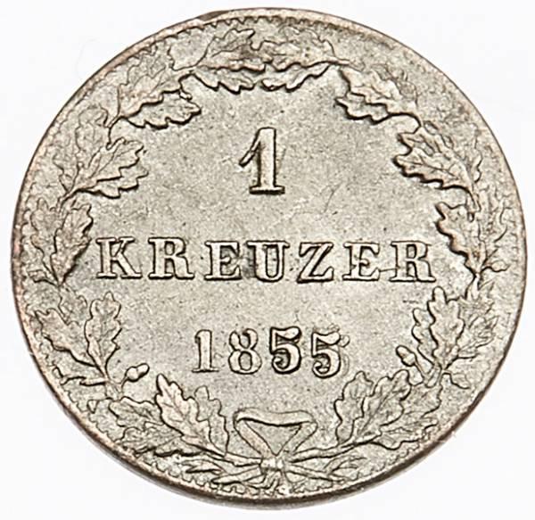 1 Kreuzer Freie Reichsstadt Frankfurt 1838-1857