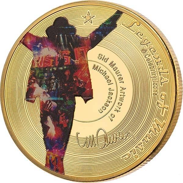 Gedenkprägung Michael Jackson Legends of Music