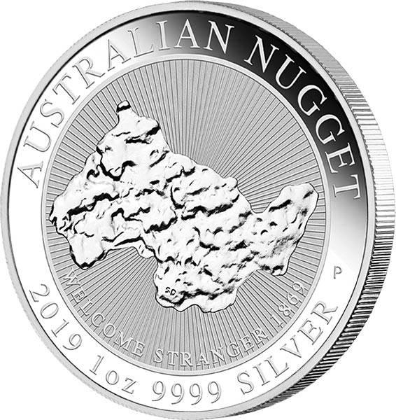 1 Unze Silber Australien Australischer Nugget 2019