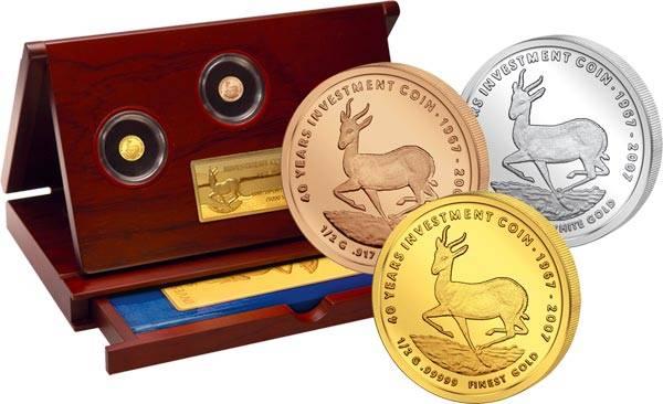 Investment Coin-Set Springbock 2007
