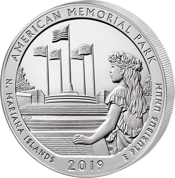 Quarter Dollar 25 Cents USA Nördliche Marianen American Memorial Park 2019