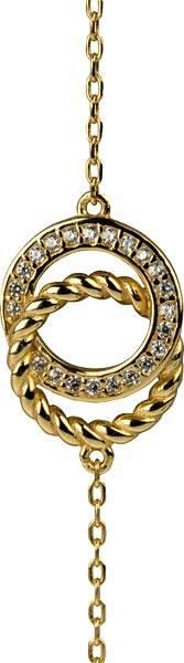 Armband mit 2 Ringen und Zirkoniasteinchen