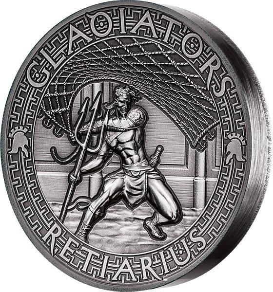 5 Dollars Salomonen Gladiatoren Retiarius 2017 - FOTOMUSTER