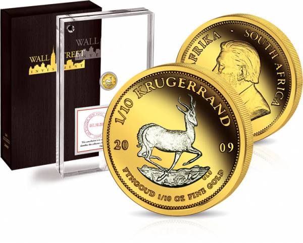 1/10 Unze Wall Street Investment Krügerrand 2009 Stempelglanz
