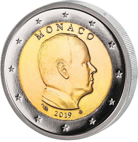 2 Euro Monaco Fürst Albert II. 2019