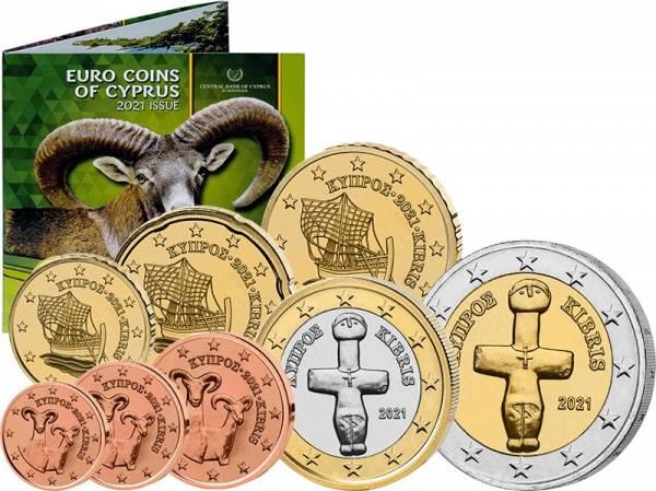 Euro-Kursmünzensatz Zypern 2021