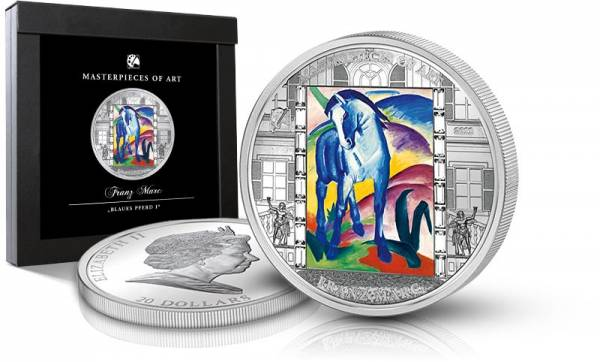 20 Dollars Cook-Inseln Franz Marc - Das blaue Pferd 2011