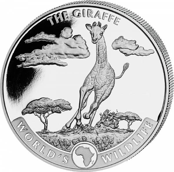 1 Unze Silber Kongo Giraffe 2019