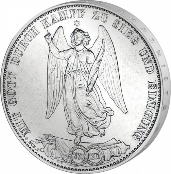 Taler Vereinstaler Württemberg Siegestaler König Karl 1871 ss-vz