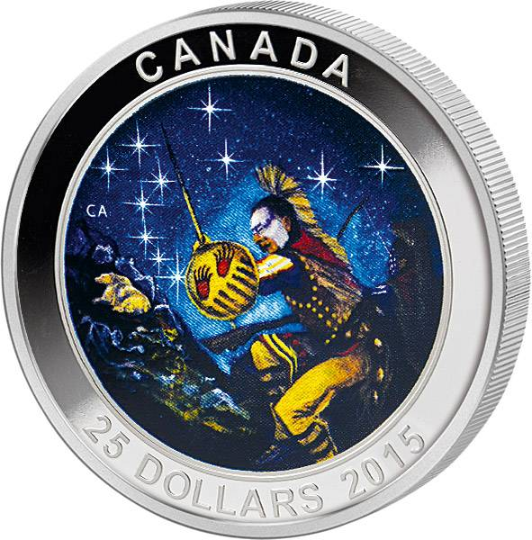 25 Dollars Kanada Sternbilder Großer Wagen 2015