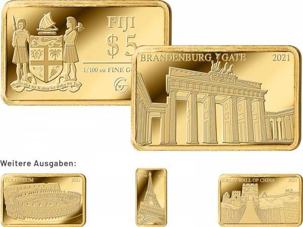 Goldbarren-Kollektion: Wahrzeichen der Welt