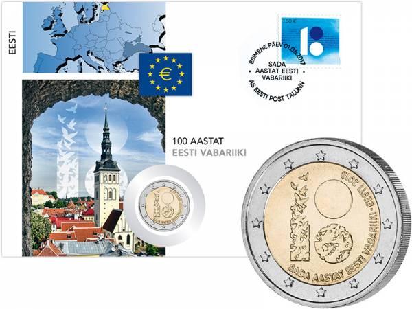 2 Euro Numisbrief Estland 100 Jahre Republik 2018