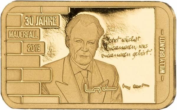 Goldbarren Willy Brandt 2019