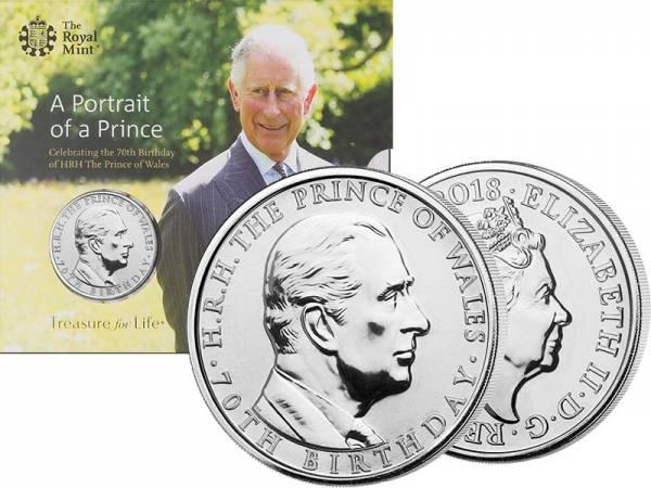 5 Pounds Großbritannien 70. Geburtstag von Prince Charles 2018