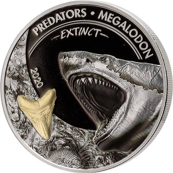 20 Francs Kongo Predators Extinct  Megalodon 2020