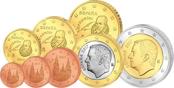 Euro-Kursmünzensatz Spanien 2017