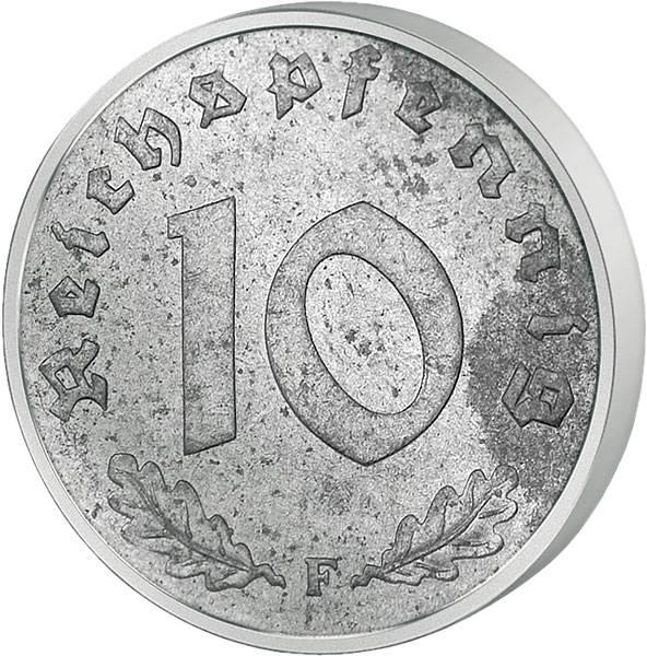10 Reichspfennig Ohne Hakenkreuz 1945-48 sehr schön