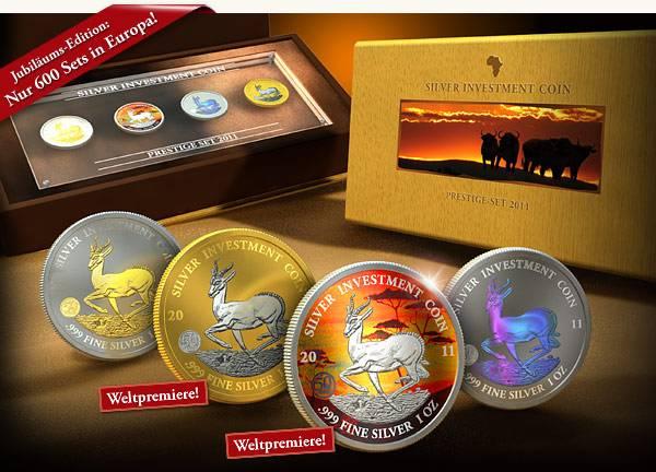 4 x 50 Kwacha Silver Investment Coin Prestige-Set 2011 Stempelglanz