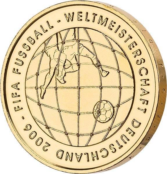 10 Euro BRD FIFA Fußball-WM (3. Version) 2005 vollvergoldet