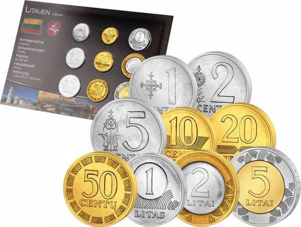 Premium-Kursmünzensatz Litauen 1991-2013