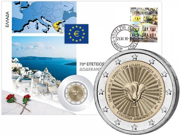 2 Euro Numisbrief Griechenland 70. Jahrestag der Vereinigung des Dodekanes 2018