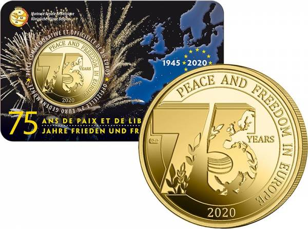 2,5 Euro Belgien 75 Jahre Friede und Freiheit in Europa 2020