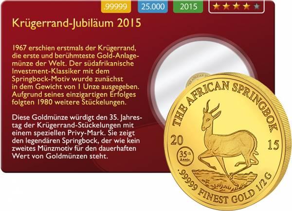 1.000 Francs Gabun Springbock Gold Coin Card