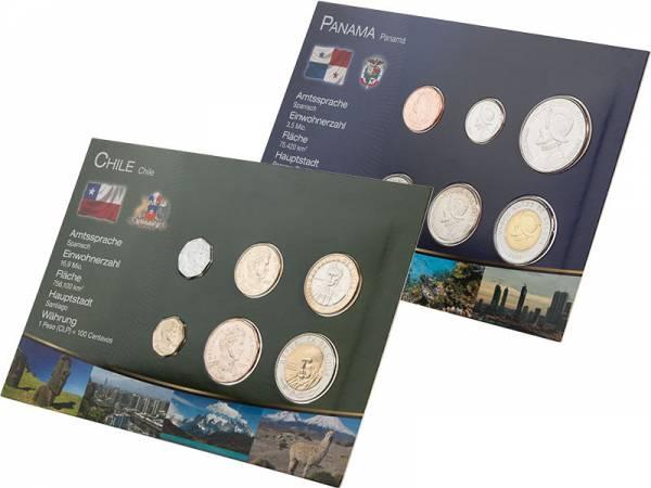 Premium-Kursmünzen-Set Panama und Chile